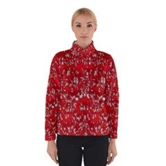 Glossy Abstract Red Winterwear