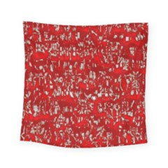 Glossy Abstract Red Square Tapestry (Small)