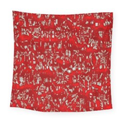 Glossy Abstract Red Square Tapestry (Large)