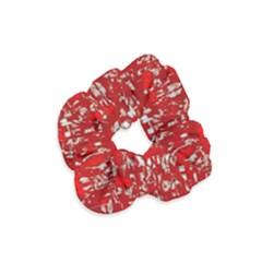 Glossy Abstract Red Velvet Scrunchie