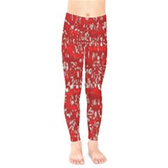 Glossy Abstract Red Kids  Legging