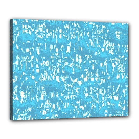 Glossy Abstract Ocean Canvas 20  x 16