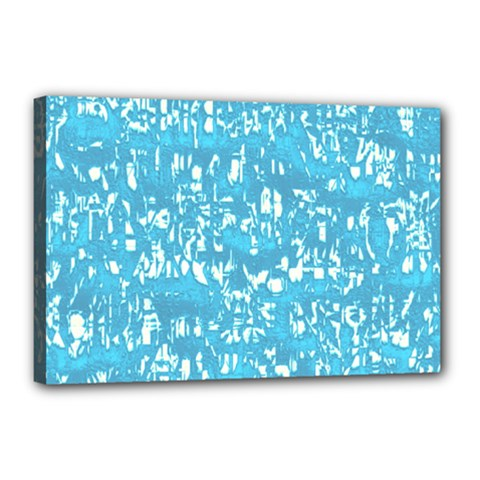 Glossy Abstract Ocean Canvas 18  x 12