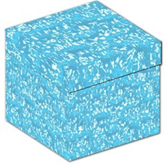 Glossy Abstract Ocean Storage Stool 12
