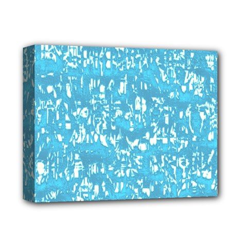 Glossy Abstract Ocean Deluxe Canvas 14  x 11