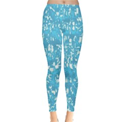 Glossy Abstract Ocean Leggings