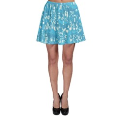 Glossy Abstract Ocean Skater Skirt