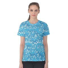 Glossy Abstract Ocean Women s Cotton Tee