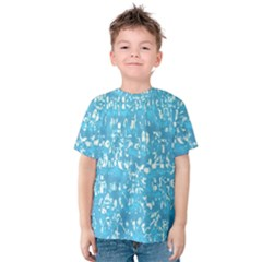 Glossy Abstract Ocean Kids  Cotton Tee