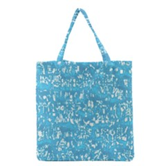Glossy Abstract Ocean Grocery Tote Bag