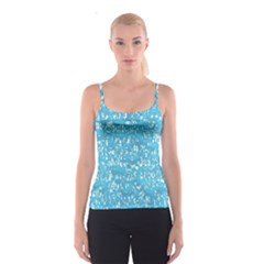 Glossy Abstract Ocean Spaghetti Strap Top