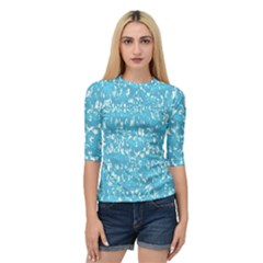 Glossy Abstract Ocean Quarter Sleeve Tee