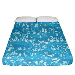 Glossy Abstract Ocean Fitted Sheet (Queen Size)