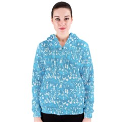 Glossy Abstract Ocean Women s Zipper Hoodie