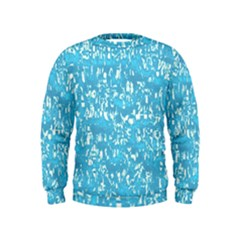 Glossy Abstract Ocean Kids  Sweatshirt