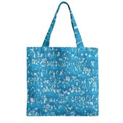 Glossy Abstract Ocean Zipper Grocery Tote Bag