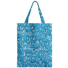 Glossy Abstract Ocean Zipper Classic Tote Bag