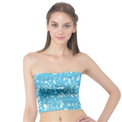 Glossy Abstract Ocean Tube Top