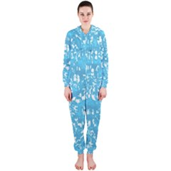 Glossy Abstract Ocean Hooded Jumpsuit (Ladies)