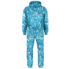 Glossy Abstract Ocean Hooded Jumpsuit (Men)
