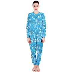 Glossy Abstract Ocean OnePiece Jumpsuit (Ladies)