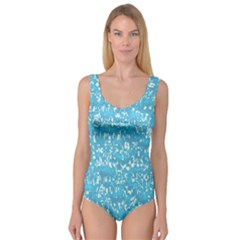 Glossy Abstract Ocean Princess Tank Leotard