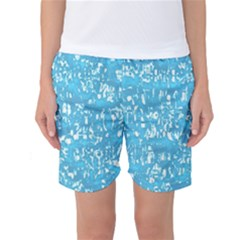 Glossy Abstract Ocean Women s Basketball Shorts