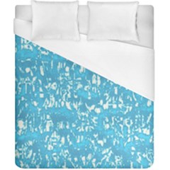 Glossy Abstract Ocean Duvet Cover (California King Size)