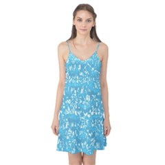Glossy Abstract Ocean Camis Nightgown