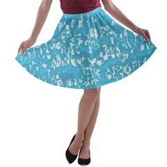 Glossy Abstract Ocean A-line Skater Skirt