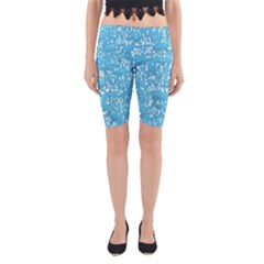 Glossy Abstract Ocean Yoga Cropped Leggings