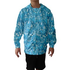 Glossy Abstract Ocean Hooded Wind Breaker (Kids)