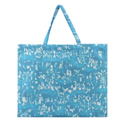 Glossy Abstract Ocean Zipper Large Tote Bag