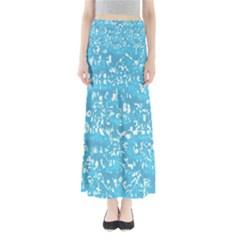 Glossy Abstract Ocean Full Length Maxi Skirt