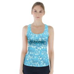 Glossy Abstract Ocean Racer Back Sports Top