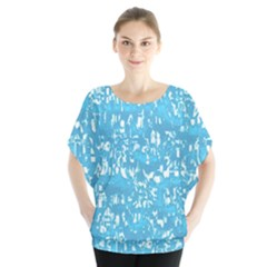 Glossy Abstract Ocean Blouse