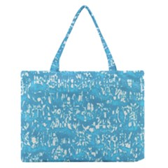 Glossy Abstract Ocean Medium Zipper Tote Bag