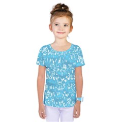 Glossy Abstract Ocean Kids  One Piece Tee