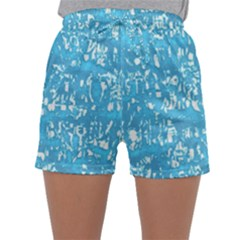 Glossy Abstract Ocean Sleepwear Shorts