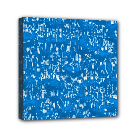 Glossy Abstract Teal Mini Canvas 6  x 6