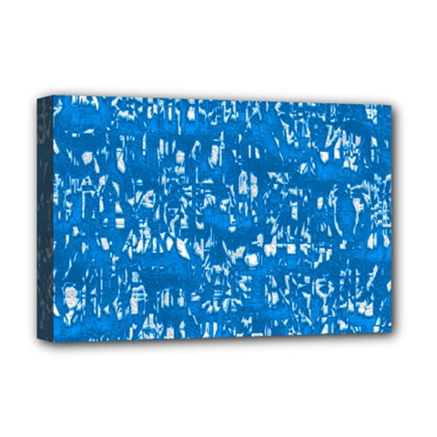Glossy Abstract Teal Deluxe Canvas 18  x 12