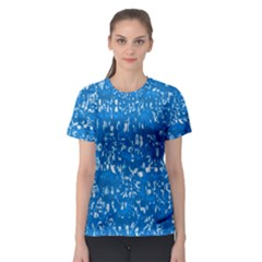 Glossy Abstract Teal Women s Sport Mesh Tee
