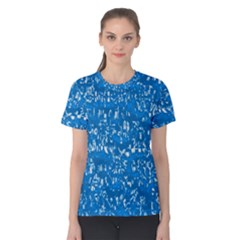 Glossy Abstract Teal Women s Cotton Tee