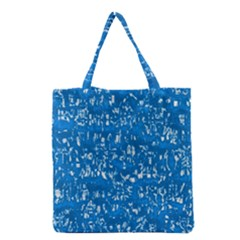 Glossy Abstract Teal Grocery Tote Bag