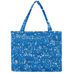 Glossy Abstract Teal Mini Tote Bag
