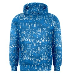 Glossy Abstract Teal Men s Pullover Hoodie