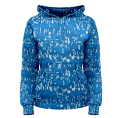 Glossy Abstract Teal Women s Pullover Hoodie