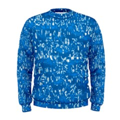 Glossy Abstract Teal Men s Sweatshirt