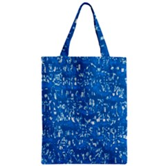 Glossy Abstract Teal Zipper Classic Tote Bag