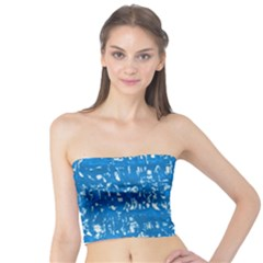 Glossy Abstract Teal Tube Top